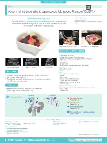US-3 Abdominal Intraoperative & Laparoscopic Ultrasound Phantom
