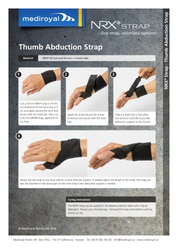 Thumb Abduction Strap