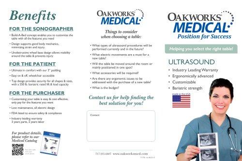 Ultrasound Table Tri-fold Brochure