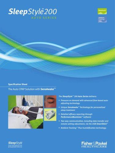 SleepStyle? 250 Specification Sheet