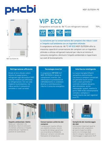 MDF-DU702VH-PE Congelatore verticale da -86 °C con refrigeranti naturali