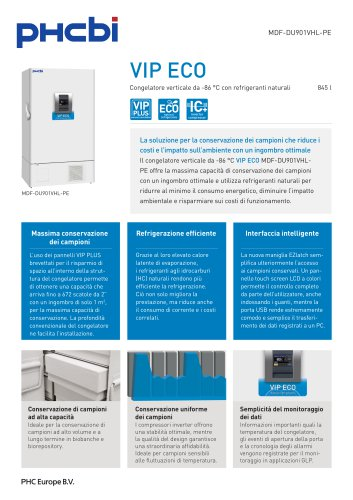 MDF-DU901VHL-PE VIP ECO Congelatore