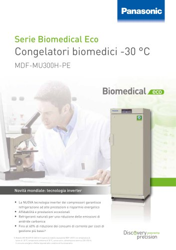 MDF-MU300H-PE Congelatori biomedici ECO -30 °C