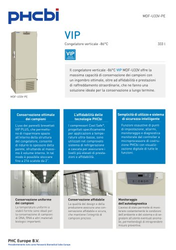 MDF-U33V-PE Congelatore verticale -86°C