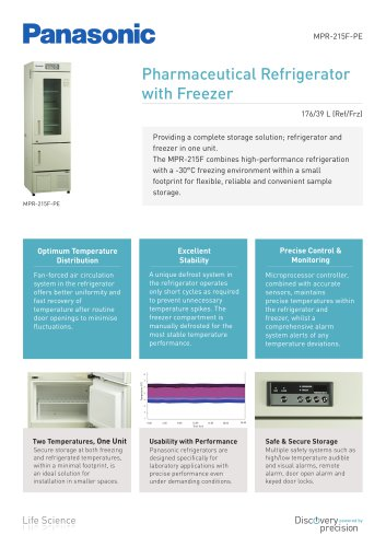 Pharmaceutical Refrigerator with Freezer MPR-215F-PE