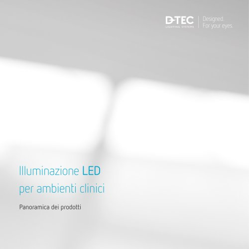 Illuminazione LED per ambienti clinici