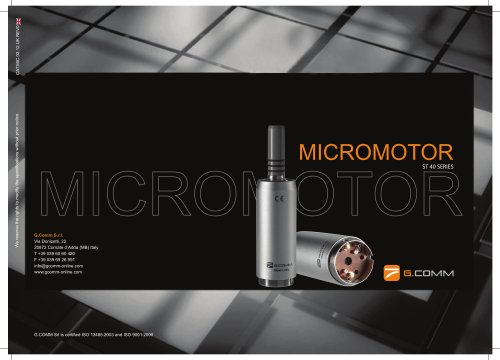 Electric micromotor ST40