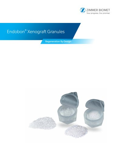 Endobon Xenograft Brochure