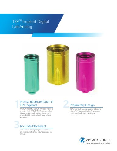 TSV™ Implant Digital Lab Analog