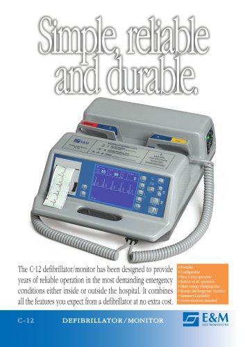 Catalogue C-12 DEFIBRILLATOR/MONITOR