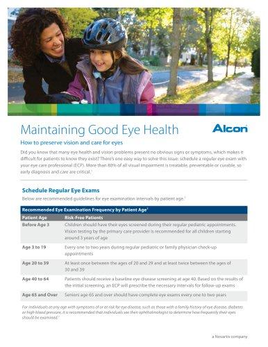 Maintaining Good Eye Health