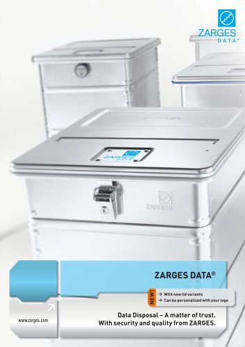 ZARGES data disposal containers