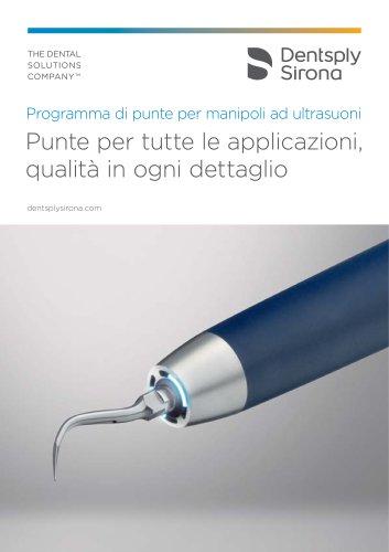 Programma di punte per manipoli ad ultrasuoni