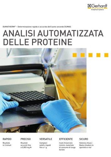 DUMATHERM - Analisi automatizzata delle proteine