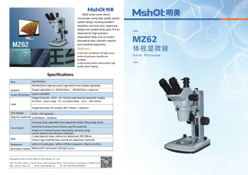 Binocular Stereo Microscope MZ62