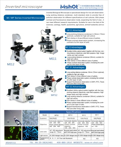 Inverted microscope of biological