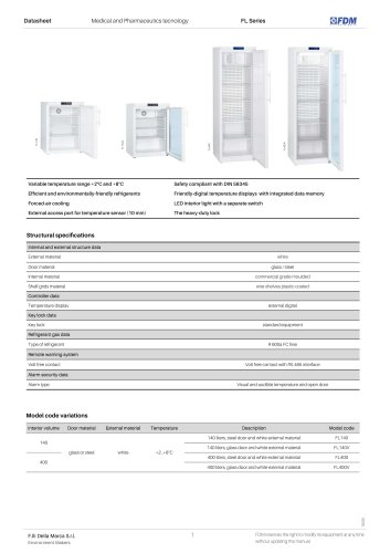 Pharma refrigerators FL Series