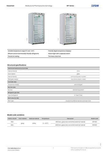 Pharma refrigerators MF Series