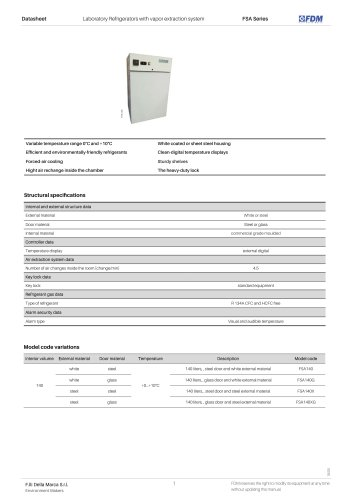 Vapor extraction refrigerator FSA Series