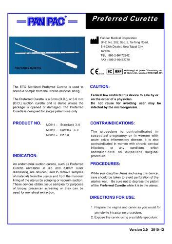 Endometrial sampling set-Preferred Curette