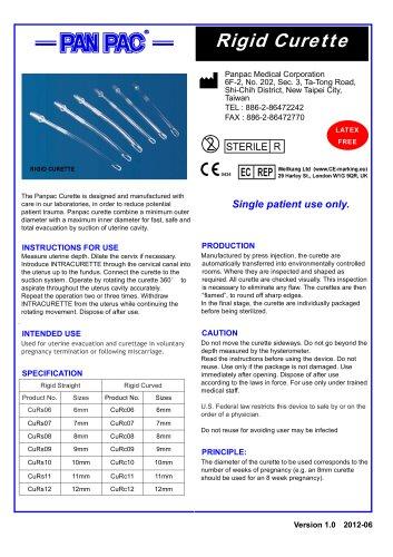 Endometrial sampling set-Rigid Curette