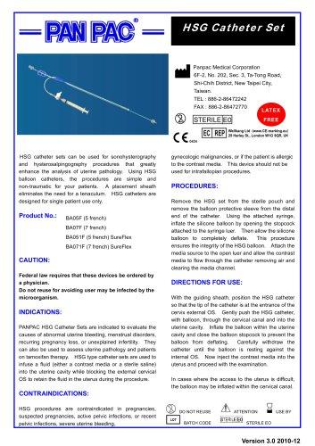 HSG Catheter Set-HSG Catheter Set
