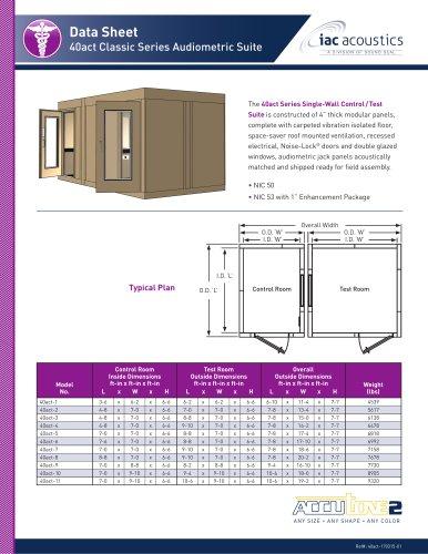 Data Sheet 40act Classic Series Audiometric Suite