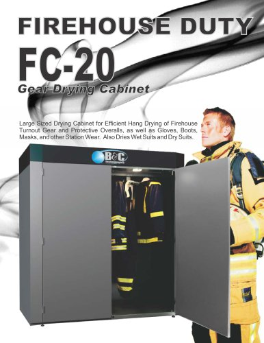 FC-20 Fireman's Turnout Gear (PPE) Drying Cabinet
