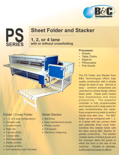 PS Series Commercial Sheet Folder and Stacker